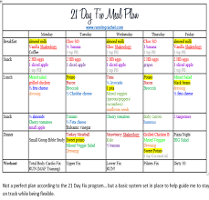 21 Day Fix Meal Chart 21 Day Fix Meal Plan And Fitness Plan Week 2