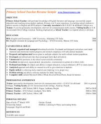 Format Of Teacher Resume Fascinating Teacher Resumes 48 Free Word PDF Documents Download Free