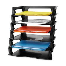 Decorative Letter Trays Amazon Rubbermaid Regeneration Letter Tray Six Tier Plastic 82