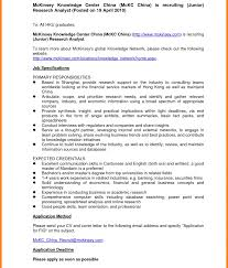 Mckinsey Resume Sample Shalomhouse Us And Company Management