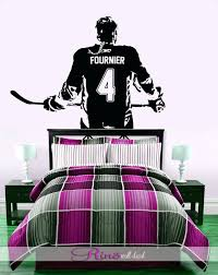 hockey wall decal hockey girls decal wall art custom women girls ice hockey  player hockey wall