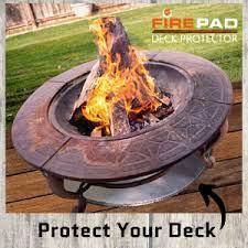 Amazon Com Newtex Firepad Deck Protector 24 Fire Pit High Temp Mat Heat Shield Protects Grass Patio Deck Fire Resistant Pad For Outdoors Bonfires Under Grill Mat Bbq Mat Made In Usa
