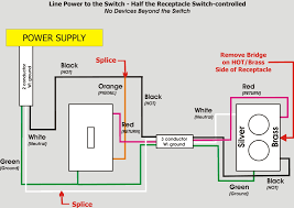 half switched outlet wiring diagram gallery wiring diagram Switch Controlled Outlet Wiring Diagram half switched outlet wiring diagram collection how to wire a switched outlet diagram wellread me