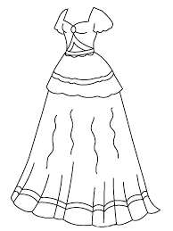 Wedding Dress Coloring Pages Dresses Barbie Astounding With And