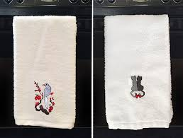 personalized kitchen bathroom hand towels 15 perfect for holidays gifts or dressing up the kitchen or bath choose a graphic monogram or both and watch