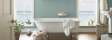 bathroom painted with interior paint from