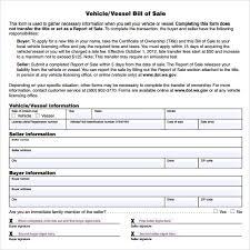 15 Auto Bill Of Sale Texas Statement Letter