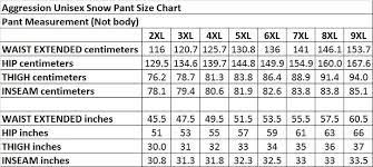 Ski Gear Size Chart Aggression Castro Adjuster Tab Womens Plus Size Pant Black 2xl 10xl