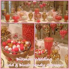 pink gold ivory blush glam sweetly chic wedding candy station favors the historic downtown la millenium biltmore hotel