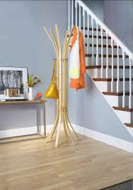 Yellow Coat Rack Diy Coat Tree With Wood Lacquered Material And Corner Stand Location 92