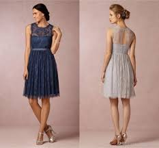 Gray Lace Bridesmaid Dress Good Dresses