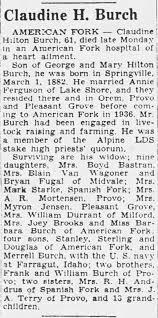 1944 Feburay 09 Claudine Hilton Burch Obituary - Newspapers.com