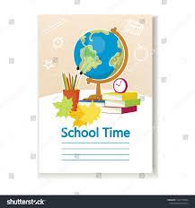 School Diary Design Diary Cover Children School Diary Primary Stock Vector