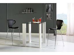 Ensemble table haute + 4 chaises BRANDY coloris blanc/noir - Vente ...
