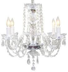 authentic all crystal chandelier 4 light