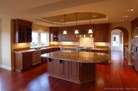 traditional dark wood cherry kitchen