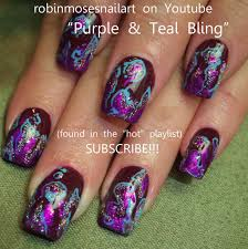 Purple And Teal Nail Designs Lavender And Teal Dark Purple And Teal Nail Art With