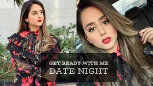 get ready with me date night makeup outfit dubai hadia