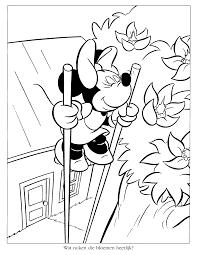 Kleurplaten Paradijs Kleurplaat Minnie Mouse Ruikt Aan De Bloemen
