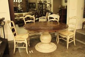 awesome outstanding round distressed kitchen table also country wood and for distressed pedestal table popular