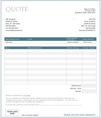 software quotation format in word useful ms excel and word templates for business owners
