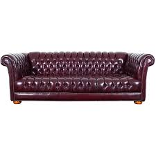 vintage distressed burdy leather chesterfield sofa for at 1stdibs