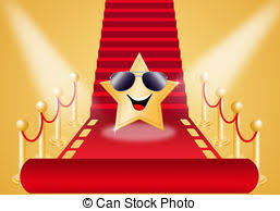 carpet time clipart. star on red carpet for oscars award time clipart