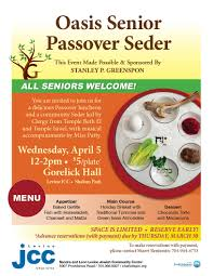 jewish community center of charlotte nc oasis senior passover seder to make reservations payment please contact sharri benjamin at 704 944 6753