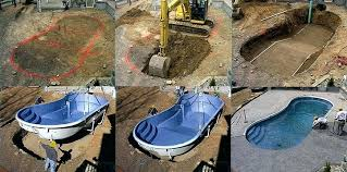 timeline for building a fiberglass pool diy fiberglass pool pool diy fiberglass pools for build