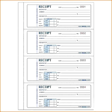 Receipt Book Template Word Autonet Club