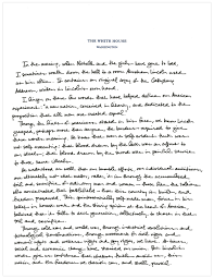 president obama s handwritten essay marking the th anniversary  here s the full text of president obama s essay