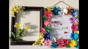 3 easy wall decorations with old photo frames diy