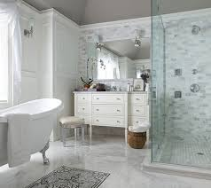 modern bathroom with clawfoot tub