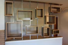 wall shelves half wall with shelves building a half wall