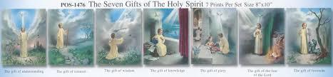 catholic 7 gifts holy spirit clipart