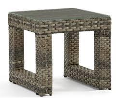 South sea rattan jakarta glass side table wayfair
