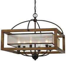 wooden chandelier lighting. Chandelier Rustic Wooden Square Wood Frame And Sheer Light Style Design 15 Lighting E