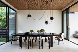 the particularity we love the most about this very modern dining room is the choice for dining room lighting and we couldn t pass on the opportunity to