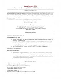 Dental Assistant Skills For Resume Free Resume Example And