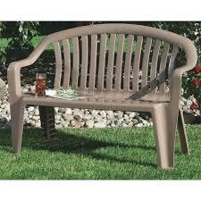 adams resin patio bench portobello