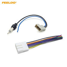 feeldo car cd audio stereo wiring harness antenna adapter for subaru 20 pin harness at Nissan Stereo Wiring Harness