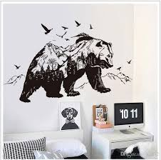 black bear wall stickers for children animals wall art stickers home decorations vinyl wall decals removable dinosaur wall decals dinosaur wall stickers  on vinyl wall art stickers with black bear wall stickers for children animals wall art stickers home