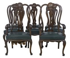 set of 6 2 early 20th century queen anne gany dining chairs