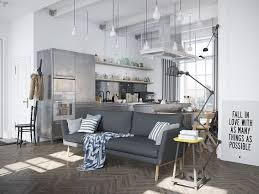 Industrial Style Living Room Furniture Scandinavian Apartment Jazzed Up By Industrial Design Elements