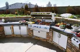 Exterior:Kitchen Exterior Simple And Cheap Outdoor Kitchen Lighting Ideas  In Knockout Outdoor Kitchens Exteriors