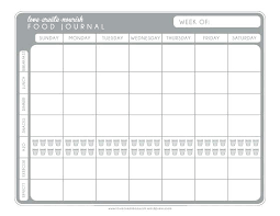 Food And Exercise Trackers Health And Fitness Tracker Free Printable Food Exercise