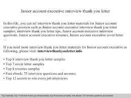 Ideas Of Example Interview Thank You Letter Executive Level