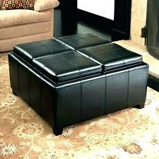 oversized leather ottoman coffee table nationalgridus co inside round plan 16