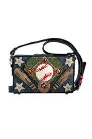 mary frances baseball leather purse front cropped image