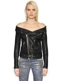 faith connexion off the shoulder leather sailor jacket black mdax0 women clothing faith connexion gold leather jacket elegant factory